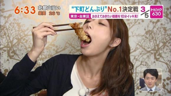 (アナウンサー)宇垣美里アナの擬似フェラチオ・・・えろカワ過ぎて鼻血がwwwwwwwwwwwwww(食レポえろキャプ写真あり)