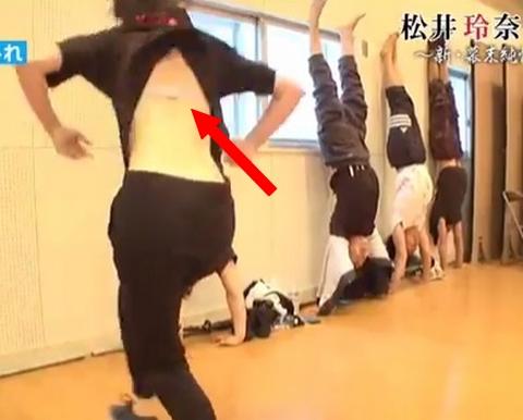松井玲奈、逆立ちした際にピンクブラジャーマル見えハプニング☆「高速で保存した」「尻もたまらん☆」