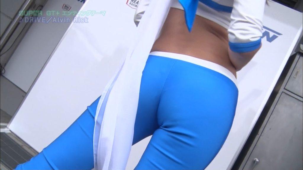 SUPERGT+に登場したレースクイーン・千葉悠凪さんのお尻wwwwww肉感がREALすぎwwwwww