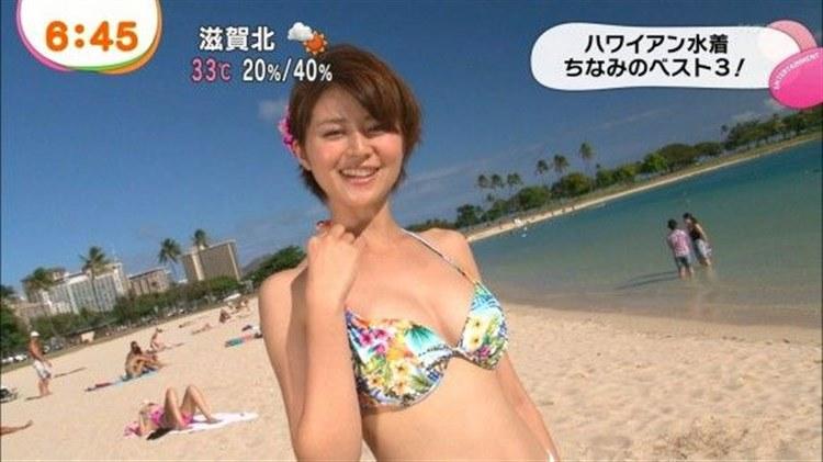 モデル・鈴木ちなみがミズ着特集でえろい胸チラお乳を披露wwwwwwwwwwww(えろキャプ写真あり)