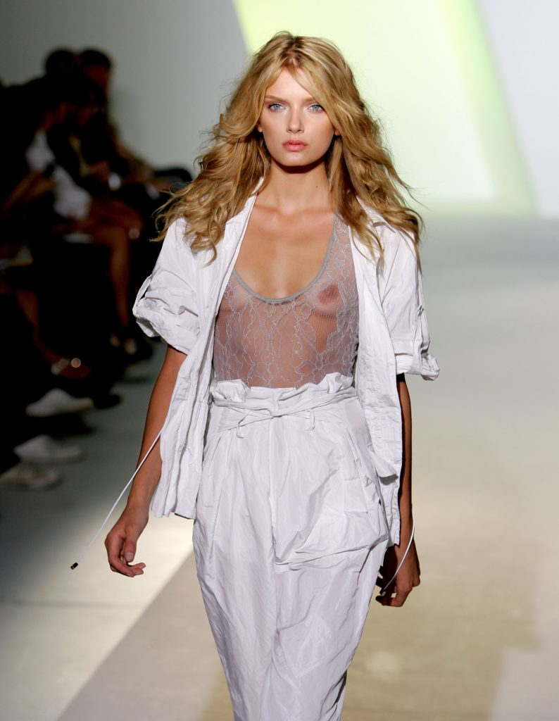 NEW YORK - SEPTEMBER 06:  A model walks the runway at the Preen Spring 2008 Fashion Show during the Mercedes-Benz Fashion Week Spring 2008 on September 6, 2007 in New York City.  (Photo by Bryan Bedder/Getty Images )